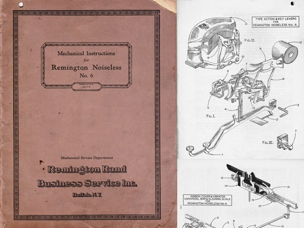 1929 Remington Noiseless 6 Typewriter Service Manual
