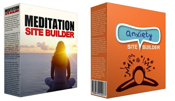 2 Video Site Builders:  Anxiety Video Site Builder and Meditation Video Site Builder