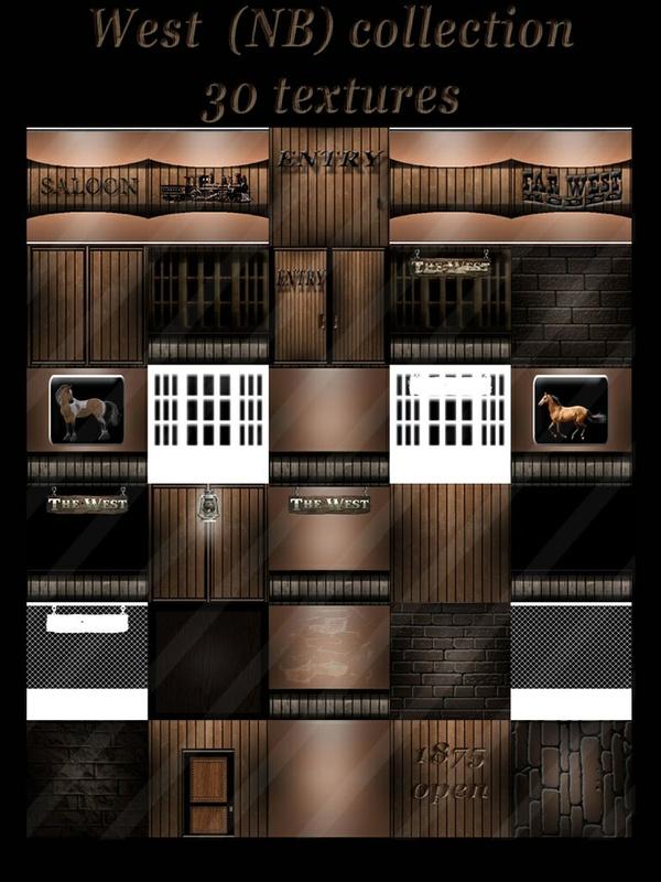 West (NB) collection 30 texturesimvu room