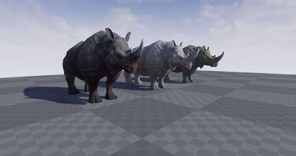 Realistic Rhino for Unreal Engine 4