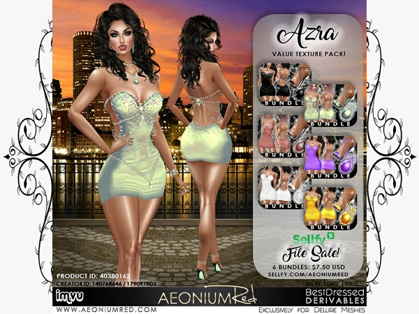 IMVU File Sale! Azra 6 Bundles Texture ValuePack