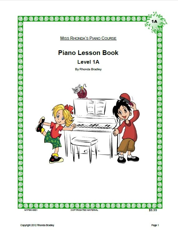 Miss Rhonda's Piano Lesson Book 1A