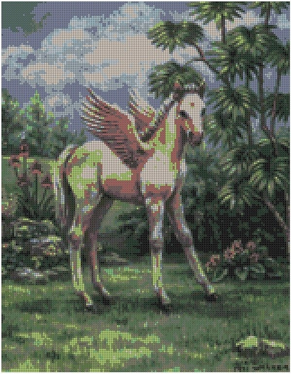 cross stitch pattern Dlw-058c