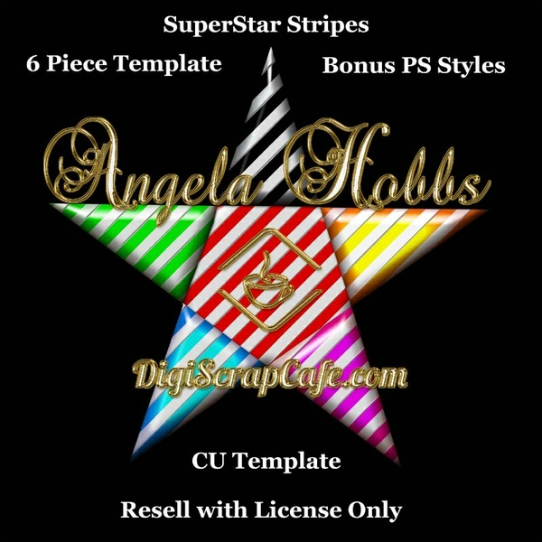 SuperStar Stripes Commercial Use PSD Template with Bonus PSE Styles