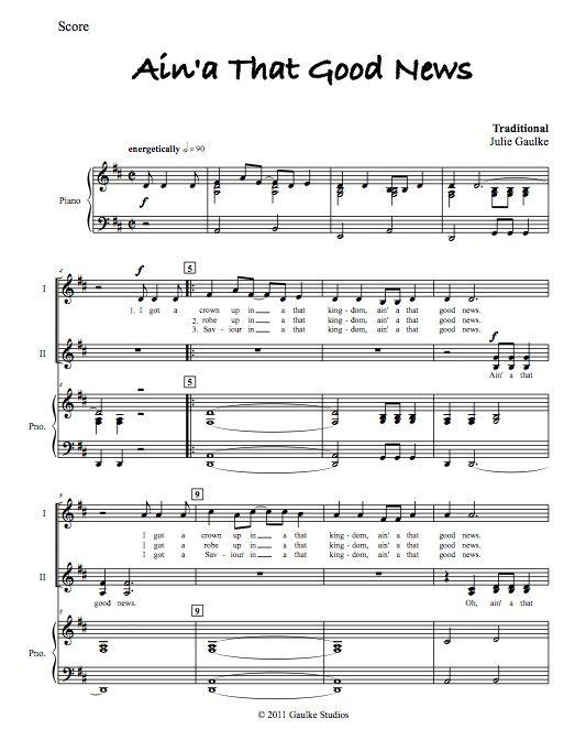 Ain'a That Good News - original arrangement