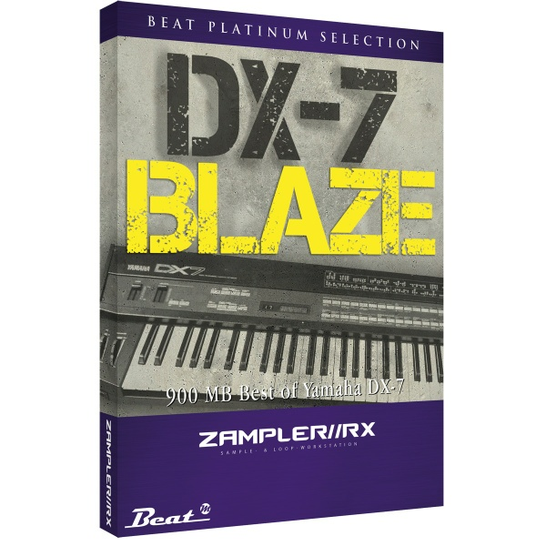 DX7 BLAZE – Yamaha DX7 sound bank for Zampler//RX workstation (Win/OSX plugin included)