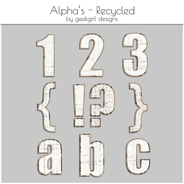 Recycled Alpha Set