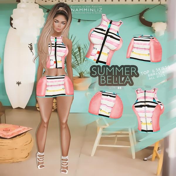Summer Bella SET 4   •Top & Skirt Bibirasta