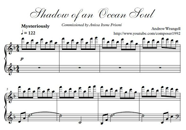 Shadow of an Ocean Soul - Piano Sheet Music