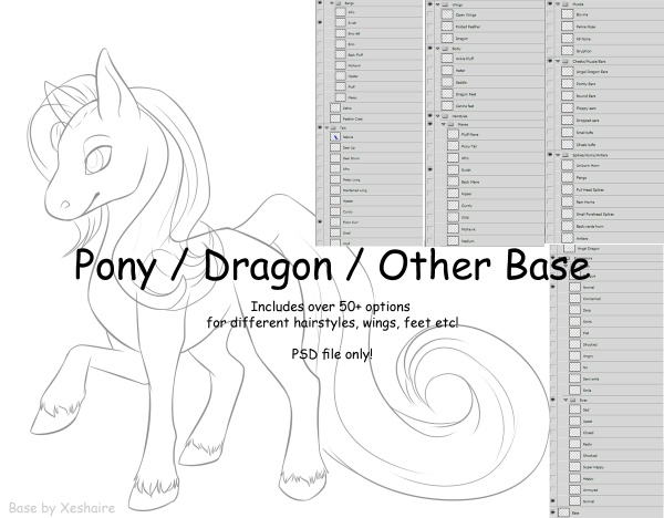 Chibi Pony / Dragon / Other Base