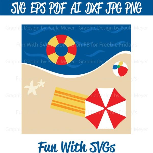 Beach, Ball, Tube - SVG Cut File, High Resolution Printable Graphics and Editable Vector Art