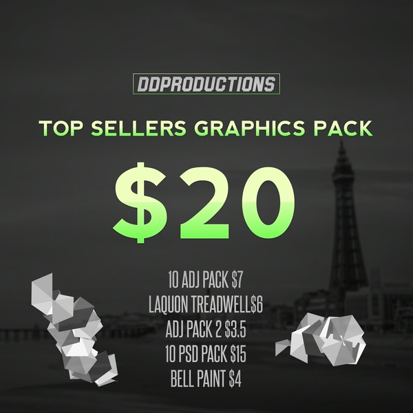 Top 5 Sellers Graphics Pack