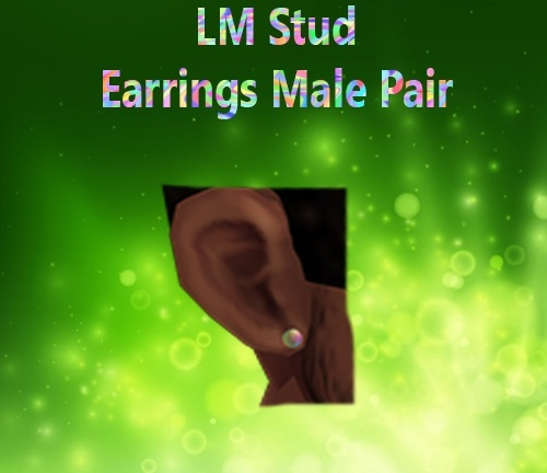 Stud Earrings Pair Male Mesh Catty Only!!!