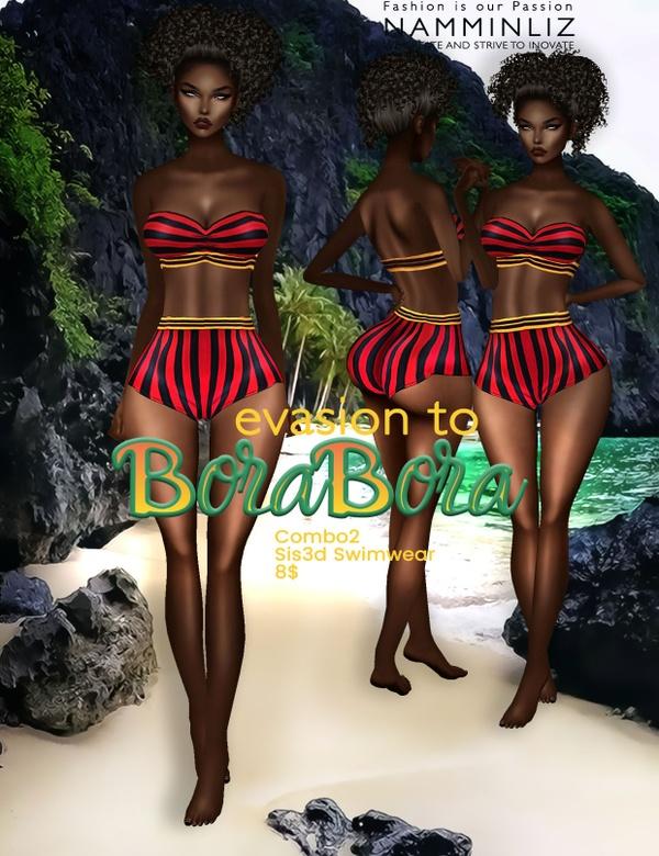 Evasion to Bora Bora combo2 Sis3d swimwear imvu NAMMINLIZ