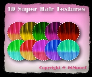 10 Super Hair Textures With Resell Rights