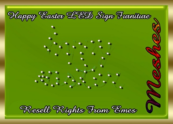 Happy Easter LED Sign Furniture Catty Only!!! (LightBulb)