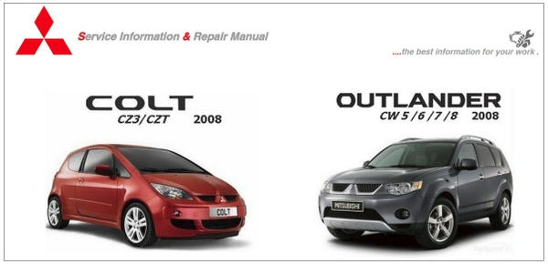 MITSUBISHI COLT & OUTLANDER 2008 WORKSHOP REPAIR MANUALS