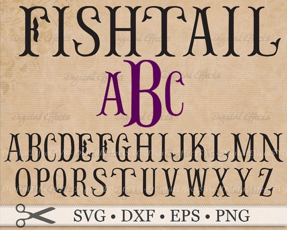 FISHTAIL MONOGRAM SVG FILES