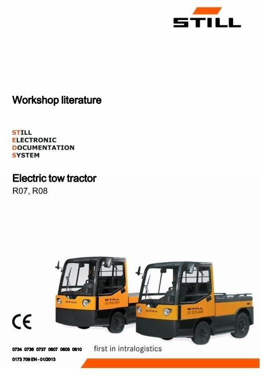 Still Electric tow tracto : R0734, R0736, R0737, R0807, R0809, R0810 Workshop Service Manual