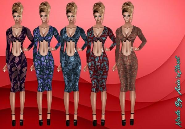 Kelia Paisley Dresses