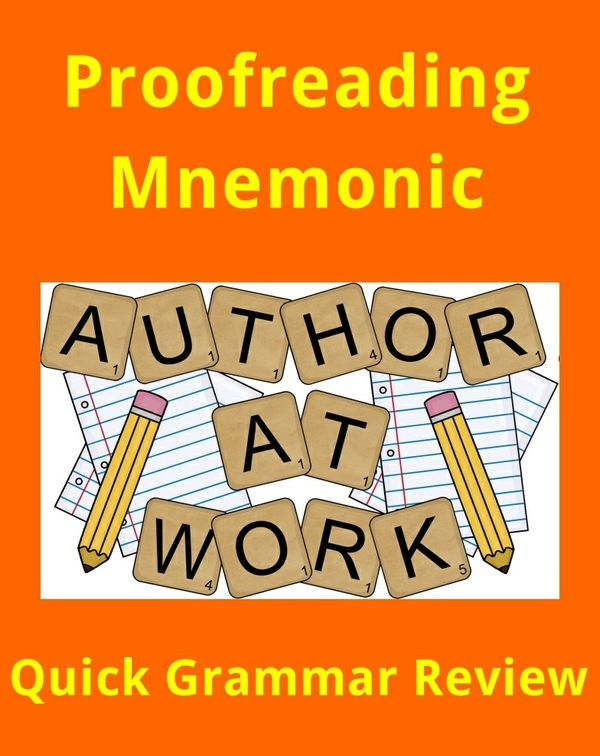 Proofreading Mnemonic - Quick Grammar Review for Writers & Students