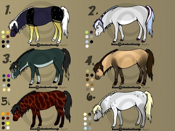 Blank horse adoptable sheet