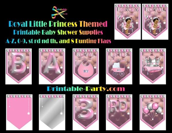 Royal Little Princess Pink Themed Printable Baby Shower