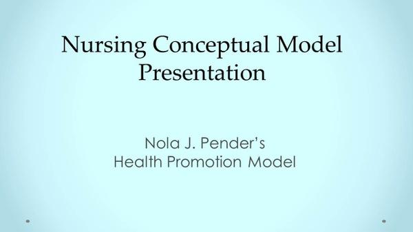 NRS-430V Week 3 Collaborative Learning Community: Nursing Conceptual Model Presentation