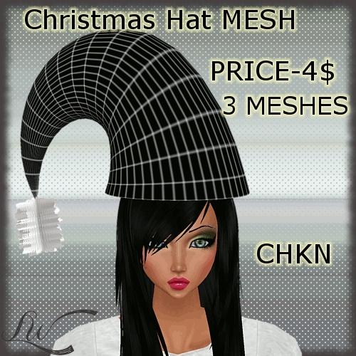 Christmas Hat MESH-3 MESHES!