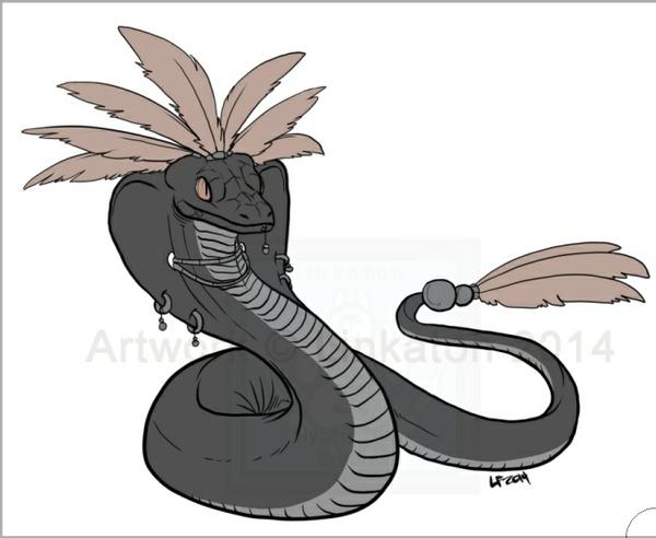 Quetzacoatl LINEART