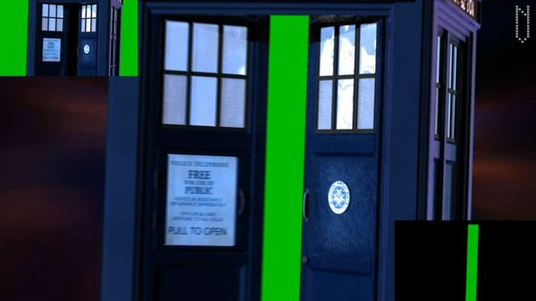 Tardis Green Screen Entrance