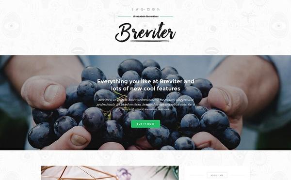 Breviter - free, bold WordPress theme