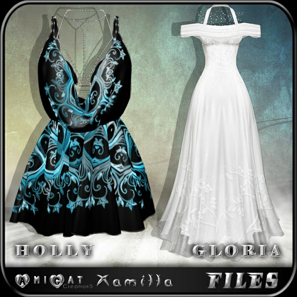 AmiCat IMVU HOLLY+GLORIA DRESSES Free (for xamilla meshes only)
