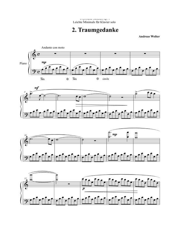 Traumgedanke (from Lyrische Skizzen op 1, Andreas Wolter ) aus CD Romantic Minimals