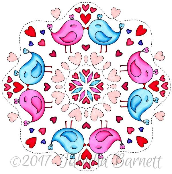 Heart Mandalas Coloring Pack #2 (5pg PDF)