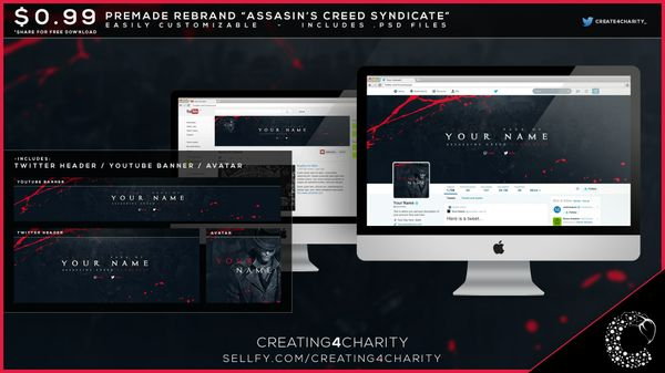 """Assassin's Creed Syndicate"" pre-made social media re-brand"