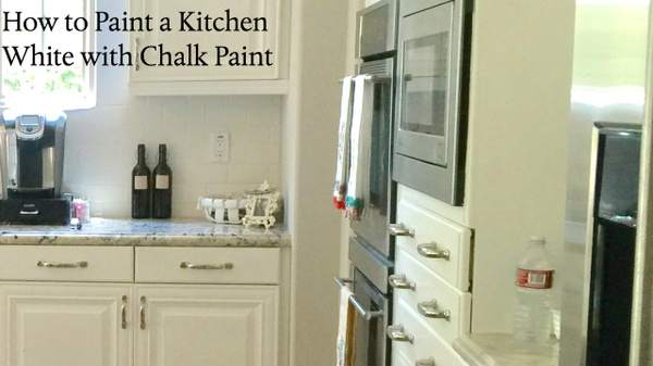 How to Paint a Kitchen White with Chalk Paint
