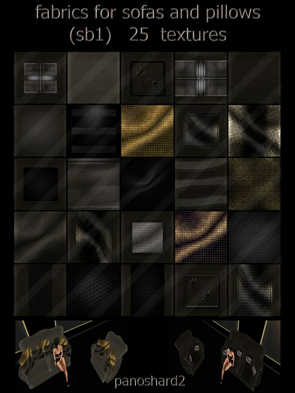 fabrics for sofas and pillows (sb) 25 textures imvu
