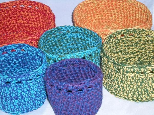 Fiesta Crochet Bowls