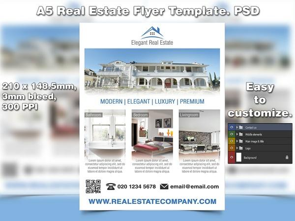 Elegant Real Estate Flyer Template (PSD)