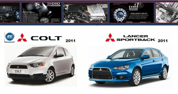 LANCER  & LANCER SPORTBACK  & COLT 2011 WORKSHOP MANUAL