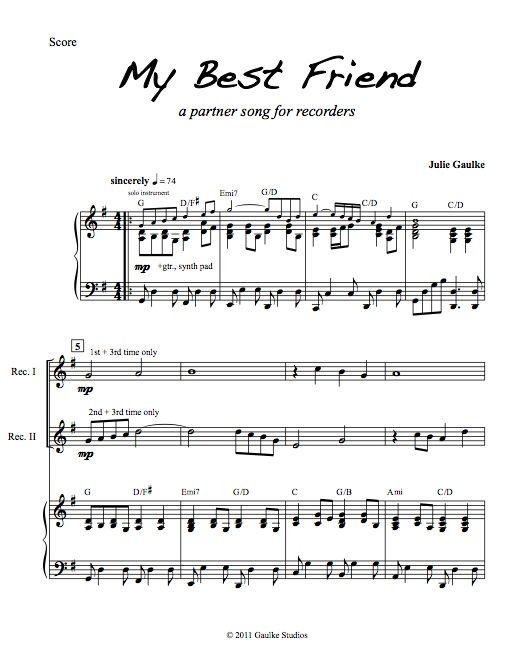 My Best Friend - recorder