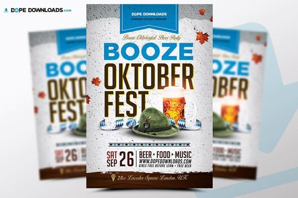 Booze Oktoberfest FREE Flyer