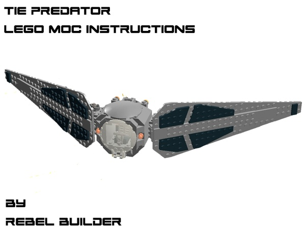 LEGO TIE Predator Instructions