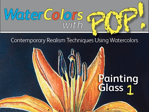 WATERCOLORS WITH POP! Painting Glass 1