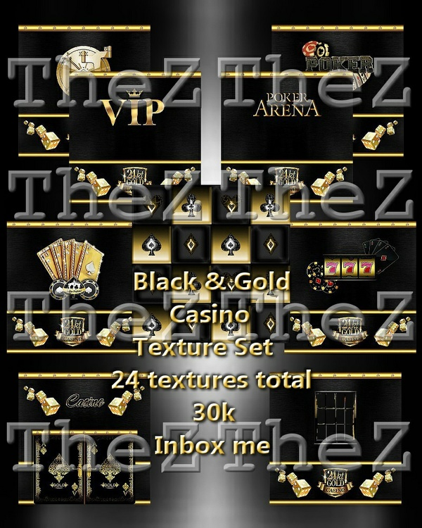 IMVU Black/Gold Poker Textures