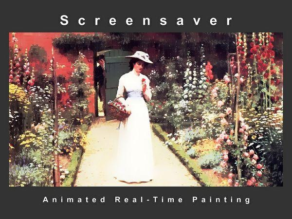 """ Lady In A Garden "" Screensaver Adaptation ( Animated Artwork )"