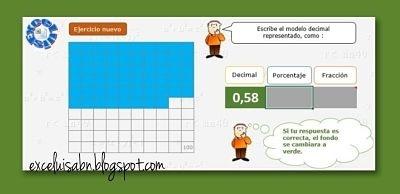 Expresar un número racional como decimal, porcentaje y fracción.