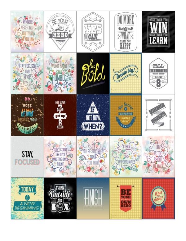 Inspirational Quote Planner Sticker Sheet for Erin Condren life planners