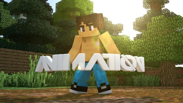 Animación 3D de Minecraft